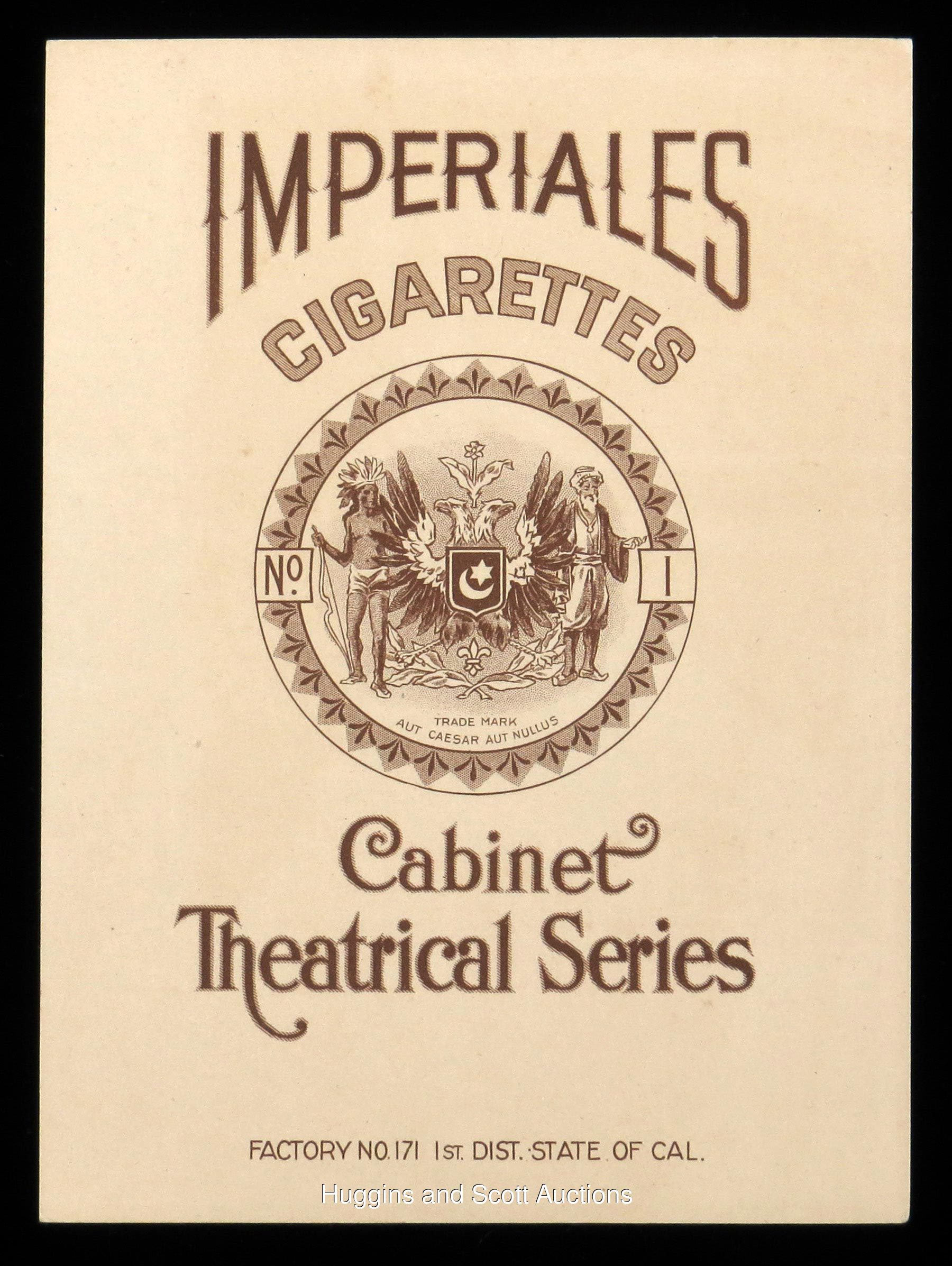 1909-1911 T10 Imperiales Florence Roberts Cabinet Card